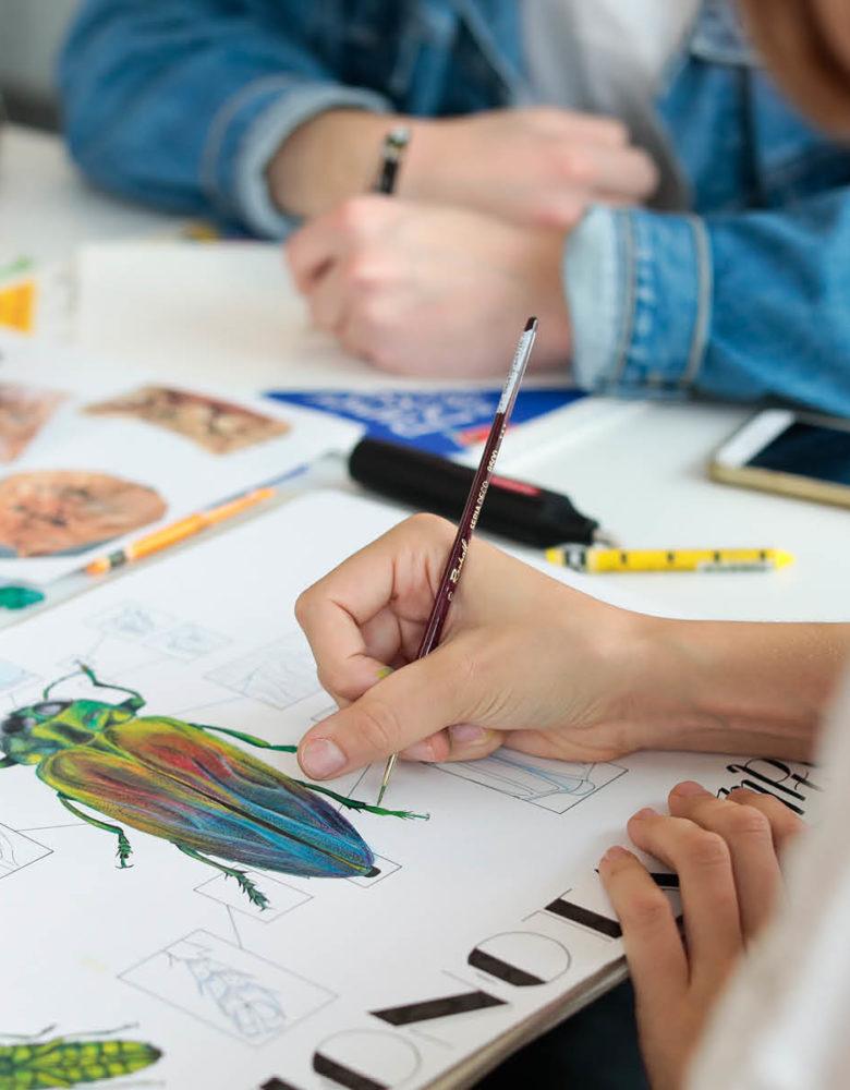étudiantes en design graphique esma nantes