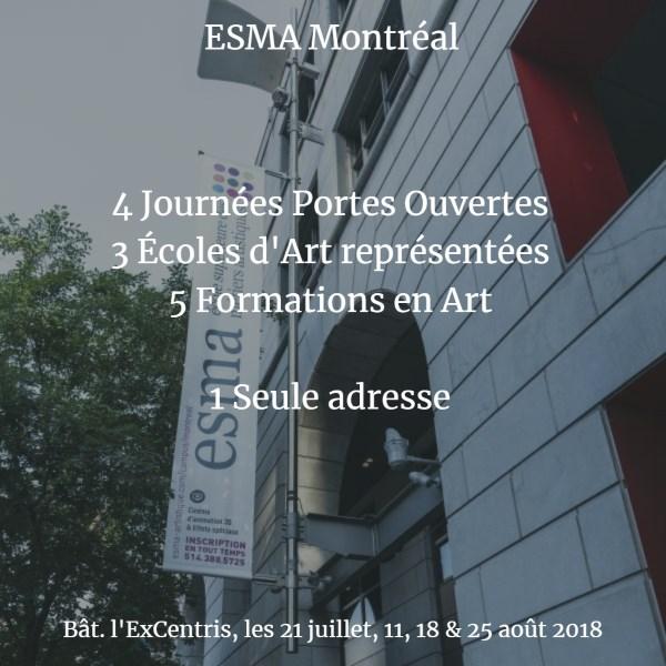 1, 2, 3... 4 Journées Portes Ouvertes à Montréal cet été !