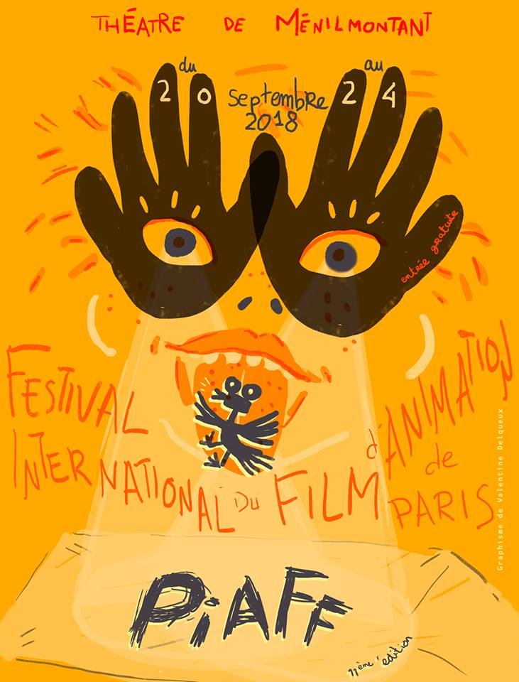 Achoo receives an award at the Paris International Animation Film Festival