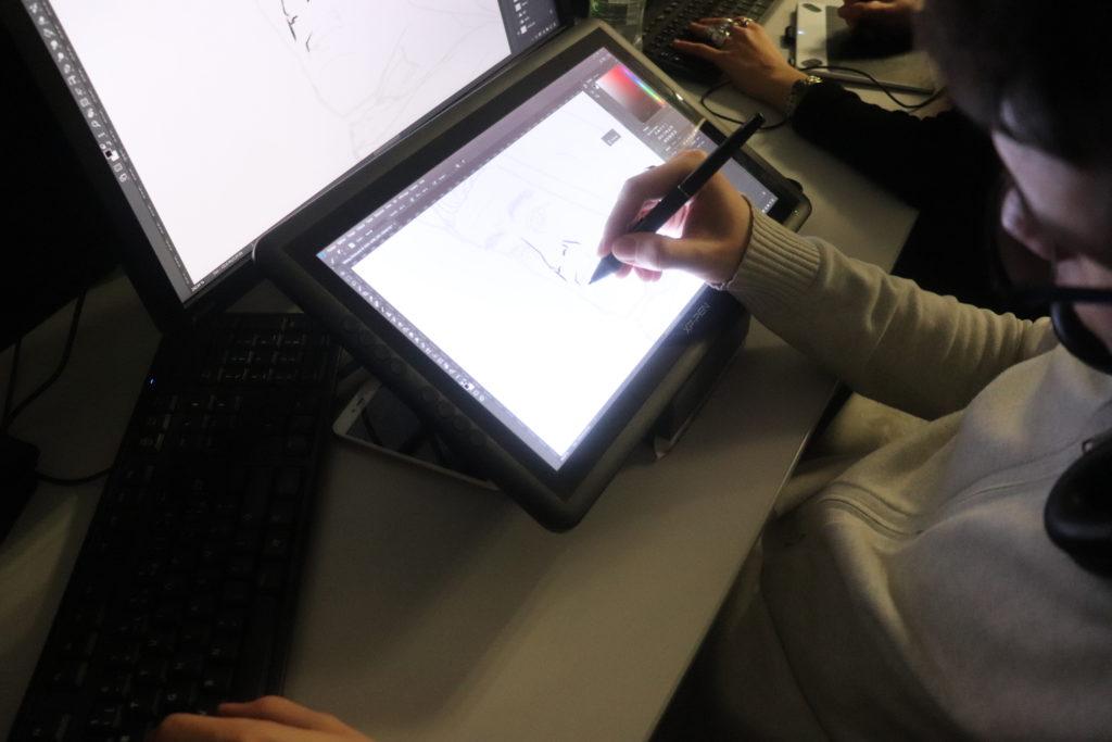Travail sur tablette graphique