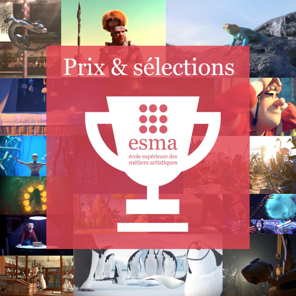 Prix et sélections des courts-métrages de l'ESMA