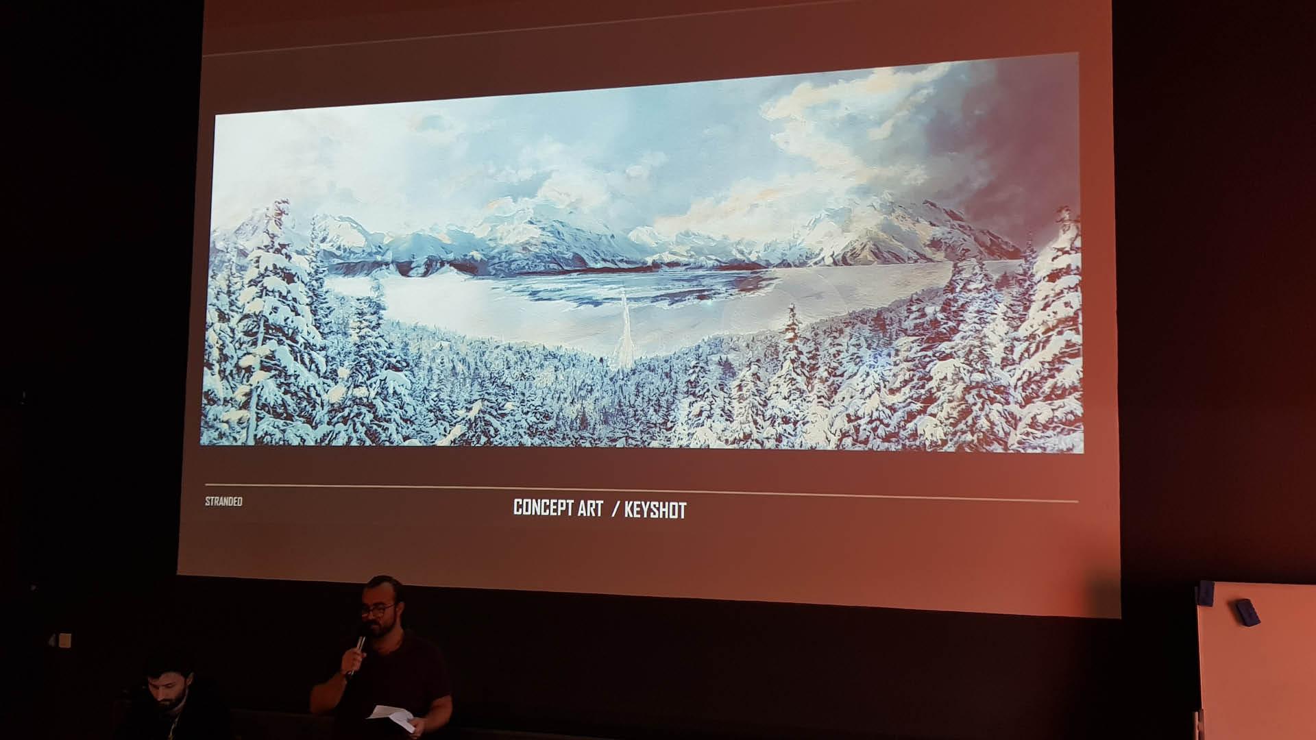 Alex Tregouet en séance de pitch au Cartoon Forum 2019