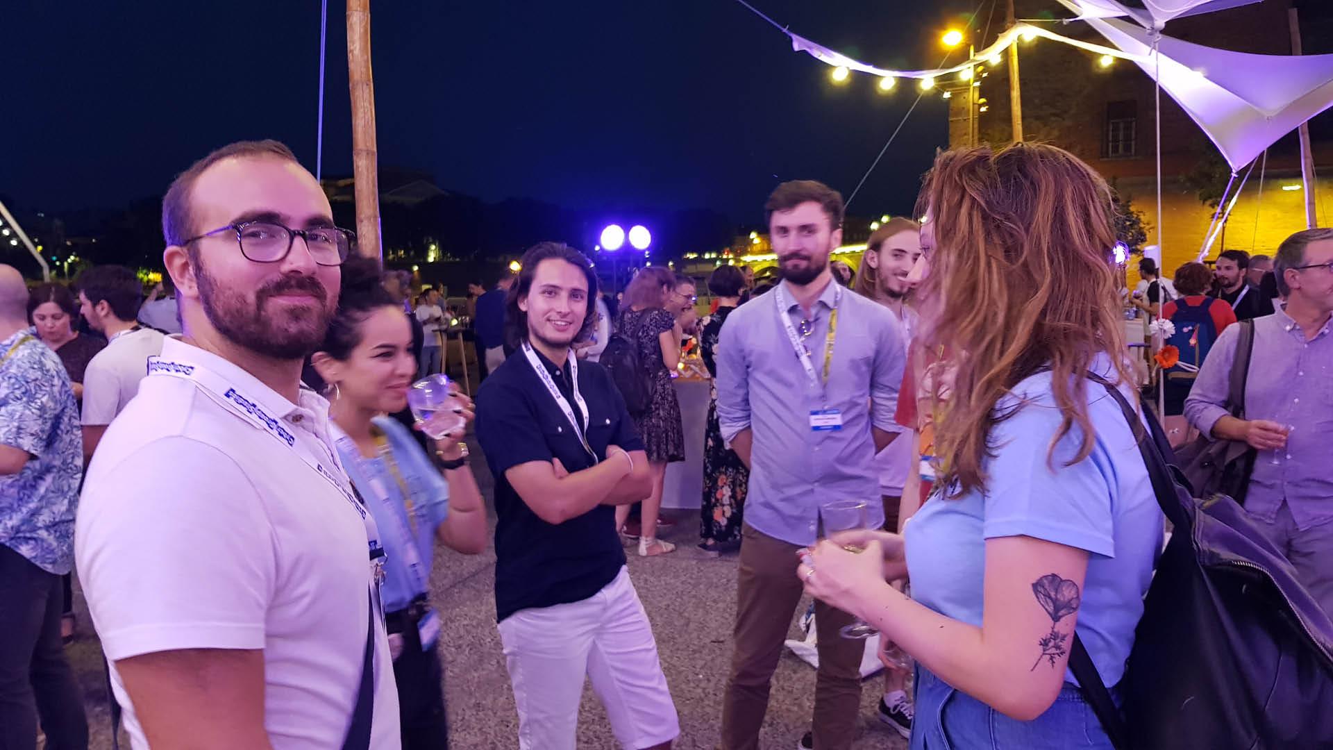 Etudiants de l'ESMA en soirée au Cartoon Forum 2019 à Toulouse