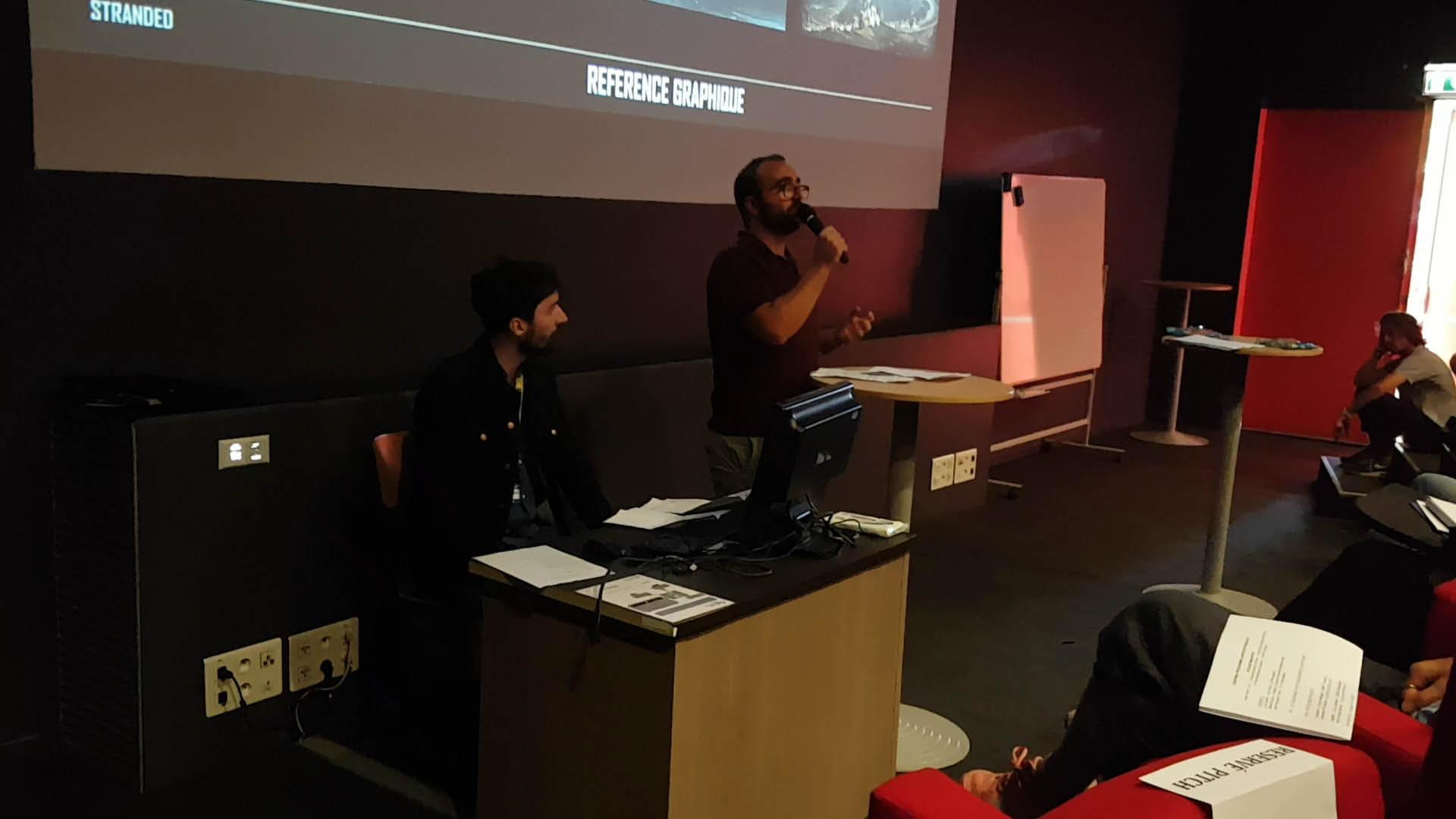 L'étudiant de l'ESMA Alex Tregouet au Cartoon Forum 2019 à Toulouse
