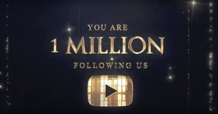 1 million subscribers on our Youtube channel!