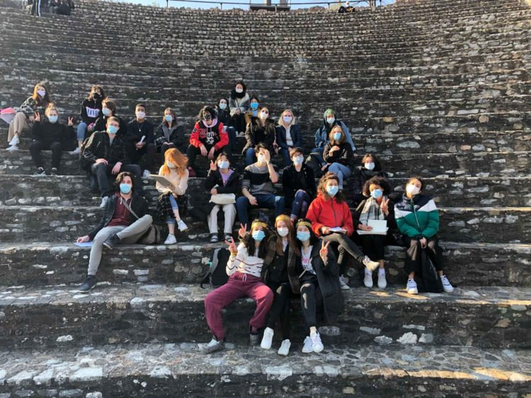 Visit to the ancient theatre of Lyon